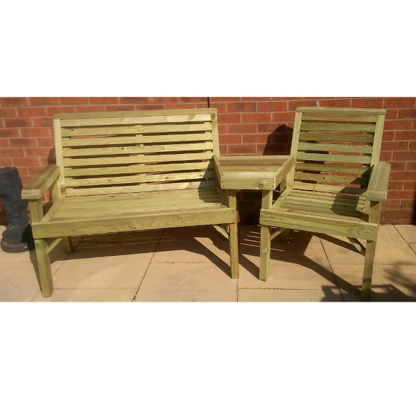 Valley Trio Set Garden Bench
