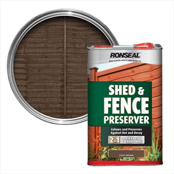 Shed & Fence Preserver Light Brown (5 litre)