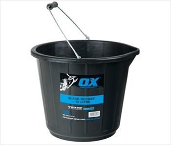 OX Trade Black Bucket (15L)