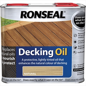 Ronseal Decking Oil Natural (2.5 litre)