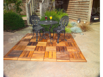 Hardwood Decking Tile (300mm x 300mm)