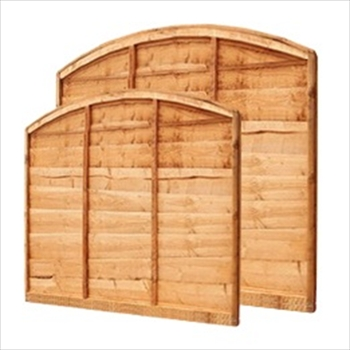 Arch Overlap Fence Panel (6ft x 4' x 4'6'')