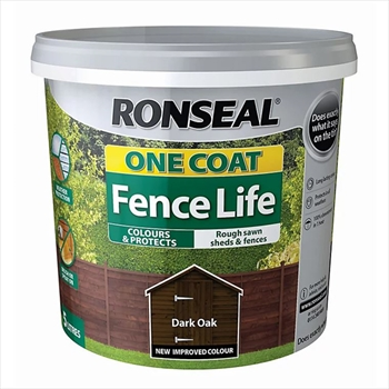 Ronseal One Coat Fence Life 5 Litre (Dark Oak)