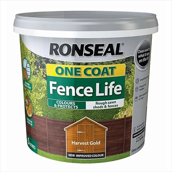 Ronseal One Coat Fence Life 5 Litre (Harvest Gold)