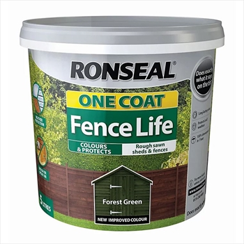 Ronseal One Coat Fence Life 5 Litre (Forest Green)