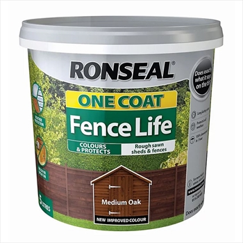 Ronseal One Coat Fence Life 5 Litre (Medium Oak)