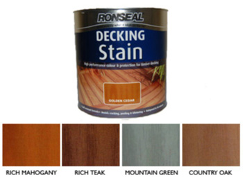 Ronseal Deck Stain Rich Teak (2.5 Litre) 25% EXTRA FREE