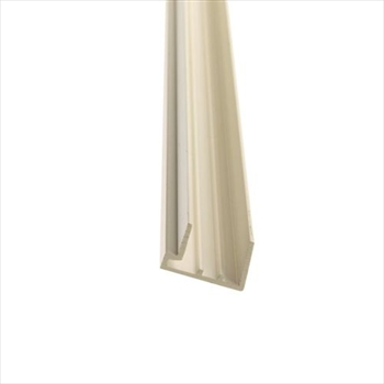 PVC White 16mm Polycarbonate Sheet End Closure (2100mm)