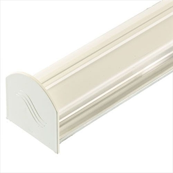 White 4m Corotherm Glazing Bar With Endcap (For 10mm, 16mm, 25mm Polycarbonate)