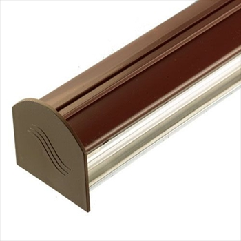 Brown 4m Corotherm Glazing Bar With Endcap (For 10mm, 16mm, 25mm Polycarbonate)