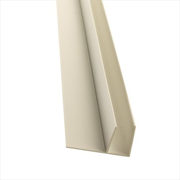 White 10mm Polycarbonate Side Flashing (6000mm)