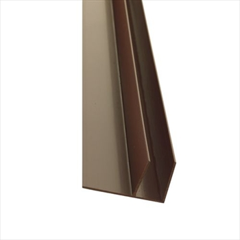 Brown 25mm Polycarbonate Side Flashing (6000mm)