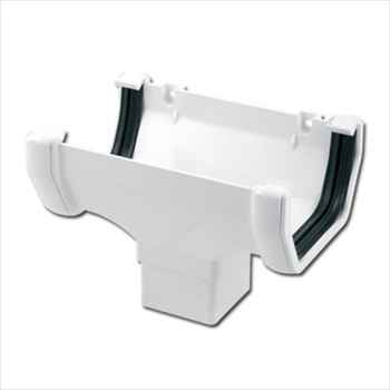 Square Gutter Running Outlet 114mm