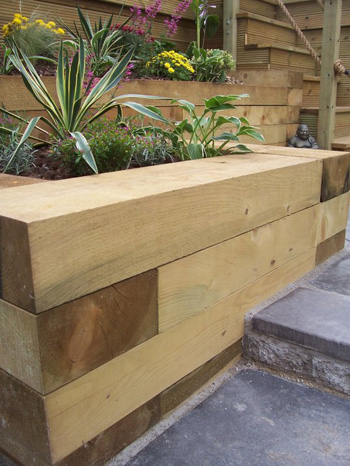 Fresh Cut Oak Sleepers 200mm x 100mm x 1200mm