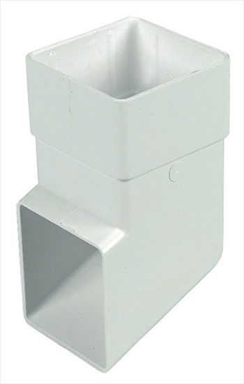 Square Downpipe Shoe 65mm