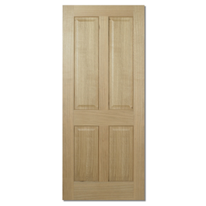 Engineered Solid Core 4 Panel Oak Door (Imperial)