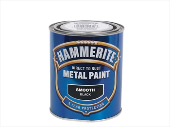 Hammerite Smooth (750ml - Black)