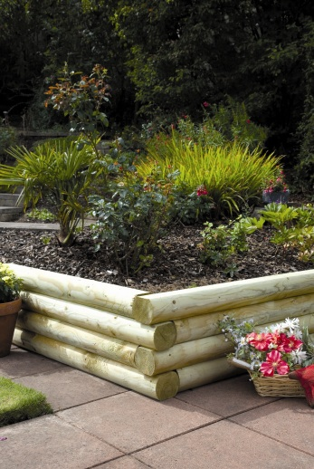 Rounded Garden Sleepers 1800mm x 120mm x 100mm