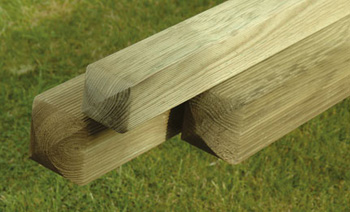 "2100mm RIBBED 4""x4"" Fence Posts"