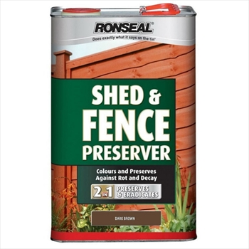 Shed & Fence Preserver Dark Brown (5 litre)