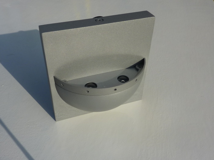Robus Wall Light IP44 - Grey With Blue LED's