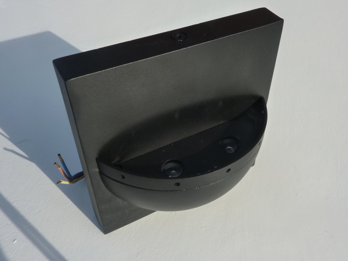 Robus Wall Light IP44 - Black With White LED's