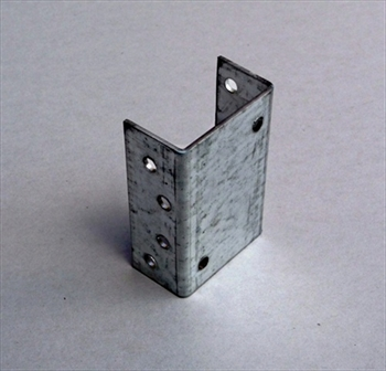 Double Galvanised Fence Panel Clip (50mm)