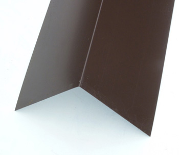 Poly Coated Angled Ridge Vandyke Brown (120° - 200mm x 200mm x 3000mm)