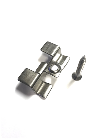 Composite Fixing Clip - Stainless Steel & Screw (Hollow Board)