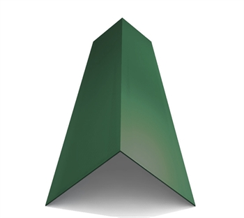 Poly Coated Angled Ridge Juniper Green (90° - 200mm x 200mm x 3000mm)
