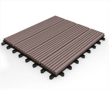 Composite Deck Tile - Redwood 295mm x 295mm