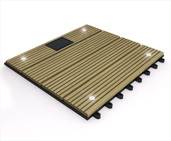 eDecks Composite Deck Tile With LED's (Teak)