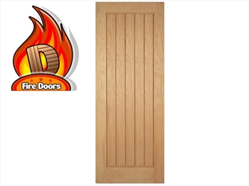Mexicano Solid Oak Pre-Finished Fire Door (Imperial)