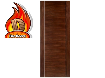 Alcaraz Walnut Flush Fire Door (Imperial)