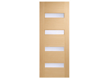 Monaco Glazed Oak Flush Door (Imperial)