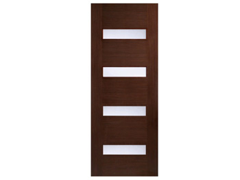 Monaco Glazed Walnut Flush Door (Imperial)