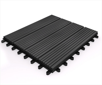 Composite Deck Tile - Ebony 295mm x 295mm