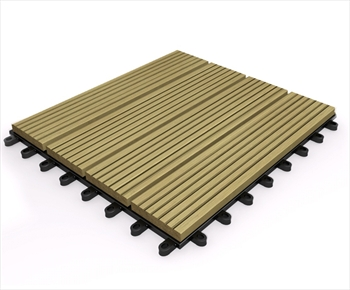 Composite Deck Tile - Teak 295mm x 295mm