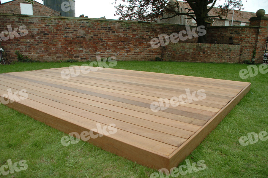 Instant Deck Kits : Garden decking kit m hardwood ipe deck no