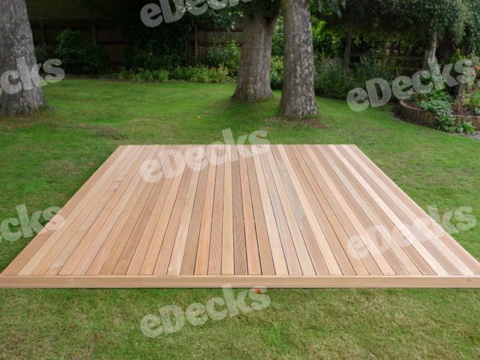 Garden decking kit x hardwood balau deck kit for Garden decking kits uk