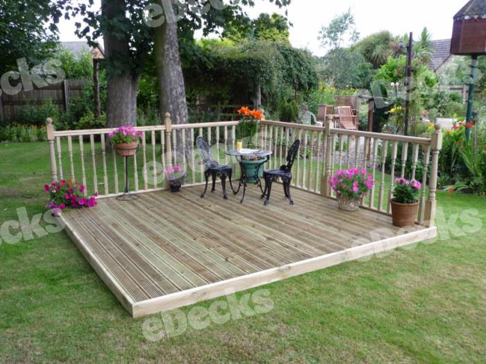 Garden sheds keighley decking kits x diy for Garden decking kits uk