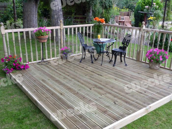 Garden decking kit x easy deck patio kit with for Garden decking kits uk