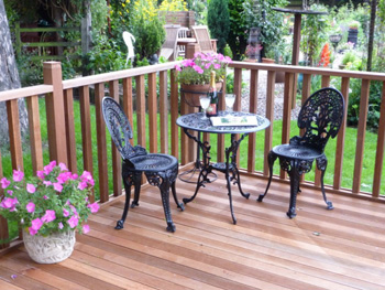 1.8m x 1.8m Hardwood Balau Deck Kit 145mm (With Handrails)