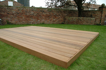 3.0m x 4.5m Hardwood IPE Deck Kit (No Handrails)