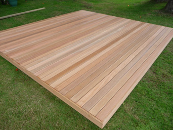 2.4m x 2.4m Hardwood Balau Deck Kit 90mm (No Handrails)
