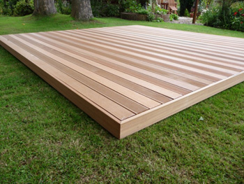 3.0m x 3.0m Hardwood Balau Deck Kit 90mm (No Handrails)