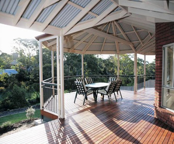 4.2m x 4.2m Hardwood Balau Deck Kit 90mm (No Handrails)