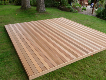 4.8m x 4.8m Hardwood Balau Deck Kit 90mm (No Handrails)