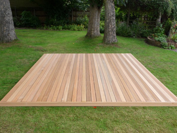 3.6m x 3.6m Hardwood Balau Deck Kit 145mm (No Handrails)