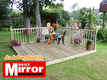2.4m x 2.4m Decking Kit (With Handrails)